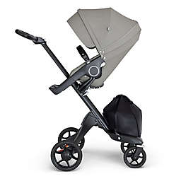 Stokke® Xplory® Stroller with Silver Frame and Black Handle