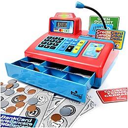 Ben Franklin Toys Talking Cash Register in Red
