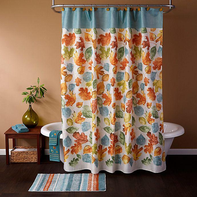 Alternate image 1 for SKL Home Falling Leaves Shower Curtain and Hook Set