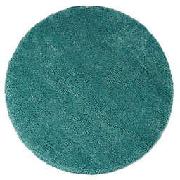 Marmalade™ 4' Round Solid Shag Rug in Teal