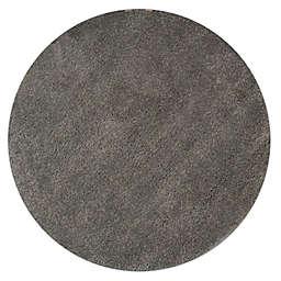 Marmalade™ 4' Round Solid Shag Rug in Grey