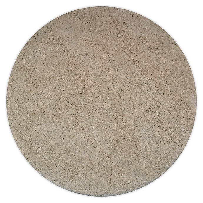 Alternate image 1 for Marmalade™ 4' Round Solid Shag Rug in Cream