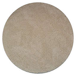 Marmalade™ 4' Round Solid Shag Rug in Cream