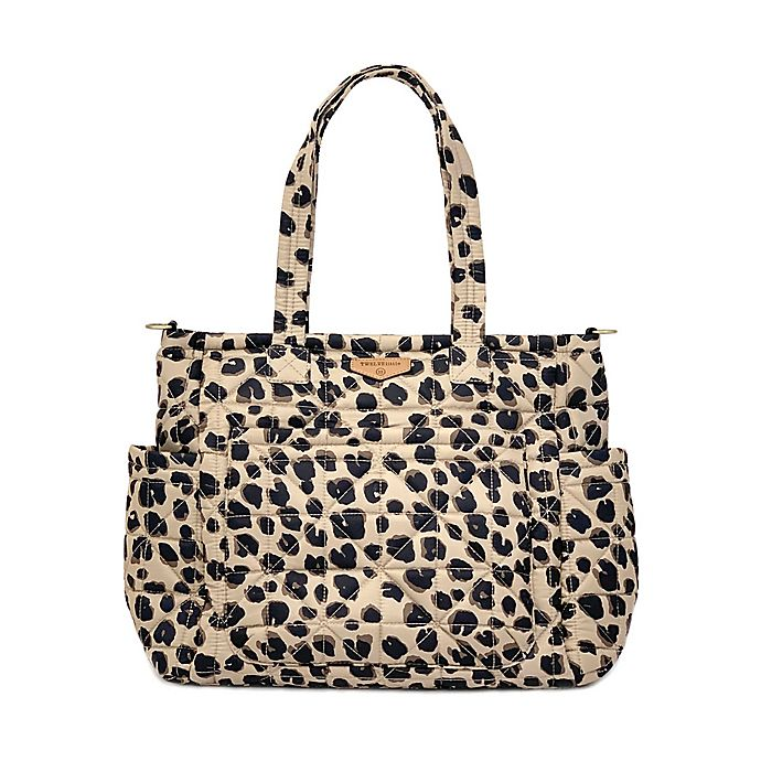 Alternate image 1 for TWELVElittle Carry Love Tote Diaper Bag in Leopard