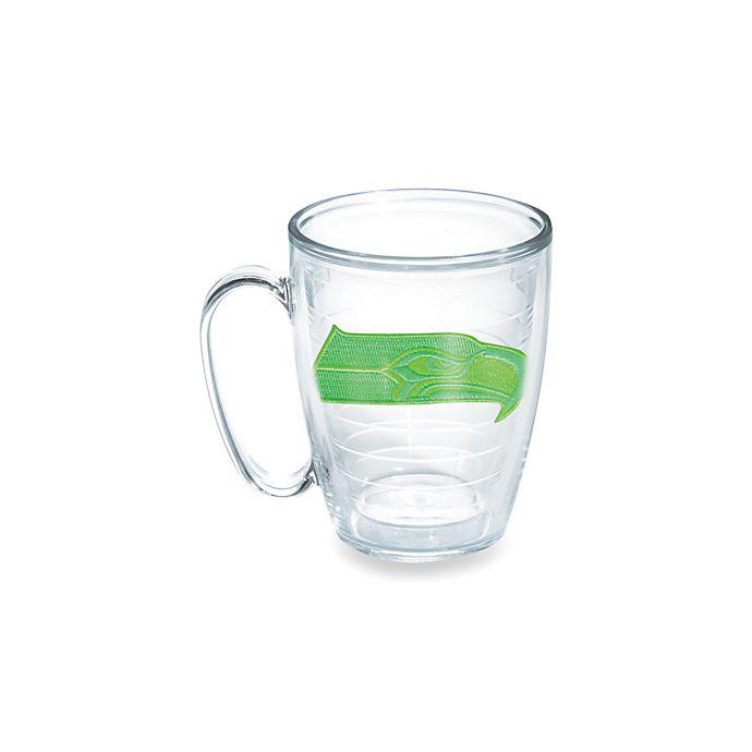Alternate image 1 for Tervis® Seattle Seahawks 15-Ounce Emblem Mug in Neon Green