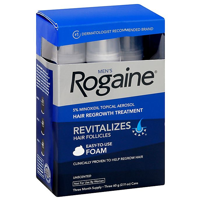 Alternate image 1 for Men's Rogaine® 3-Month Hair Regrowth Unscented Foam Treatment