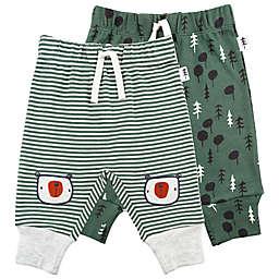 Mac & Moon 2-Pack Stripe and Tree Print Pants in Green