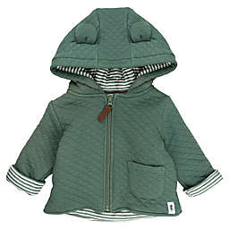 Mac & Moon Quilted Jacket in Forest Green