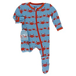 KicKee Pants® Crab Family Toddler Footie in Blue