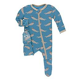 KicKee Pants® Sea Otter Footie in Blue