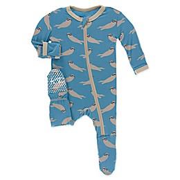 KicKee Pants® Sea Otter Toddler Footie in Blue