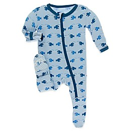 KicKee Pants® Angler Fish Toddler Footie in Blue