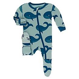 KicKee Pants® Jade Whale Toddler Footie in Blue