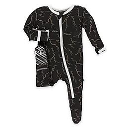 KicKee Pants® Lightning Footie in Black