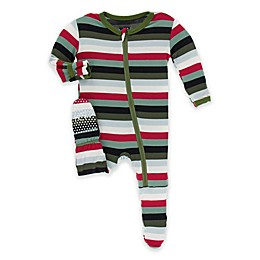 KicKee Pants® Christmas Plaid Toddler Footie