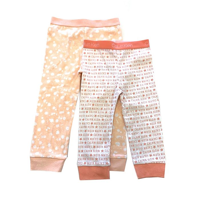Alternate image 1 for Calvin Klein 2-Pack Logo Splatter Pants