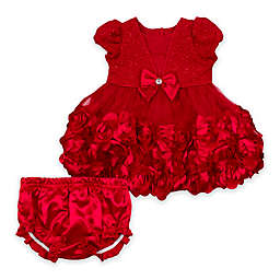 Nanette Baby® Rosette Dress with Diaper Cover in Red