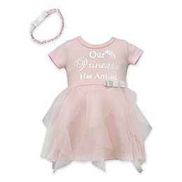 "Bonnie Baby Size 0-3M 2-Piece ""Our Princess"" Dress and Headband Set"