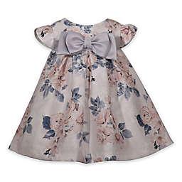 Bonnie Baby Floral Dress in Beige/Grey