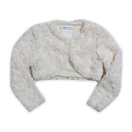 Bonnie Baby Faux Fur Jacket in Ivory