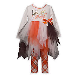 Bonnie Baby Size 3-6M 2-Piece Little Miss Harvest Tutu Shirt and Legging Set