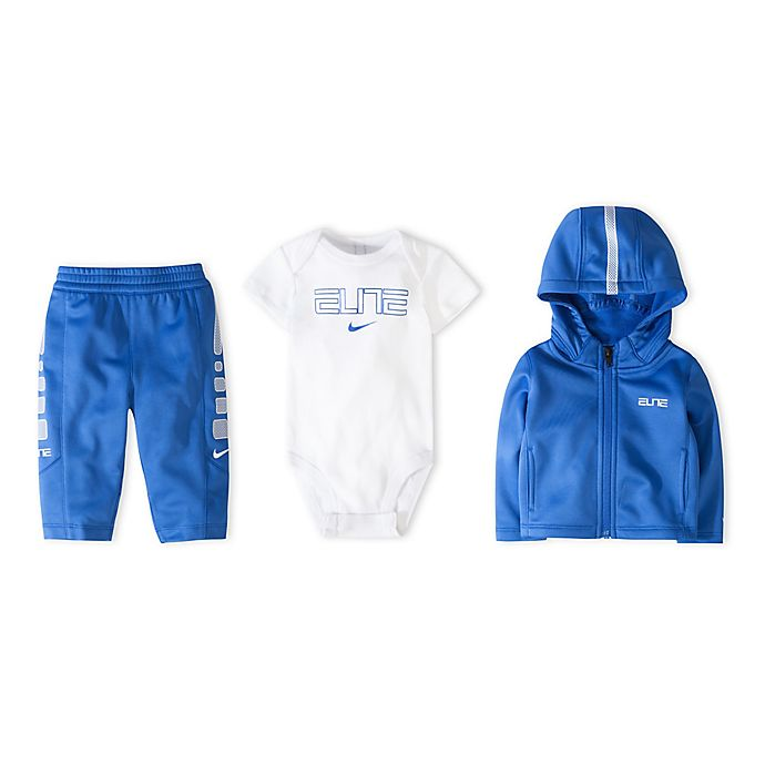 Alternate image 1 for Nike® Size 0-6M 3-Piece Therma Elite Boxed Gift Set in Game Royal