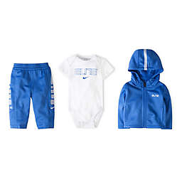 Nike® Size 0-6M 3-Piece Therma Elite Boxed Gift Set in Game Royal