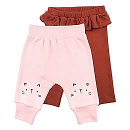 Mac & Moon 2-Piece Cat Pant and Ruffled Legging Set