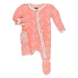 KicKee Pants® Happy Tornado Muffin Ruffle Footie in Blush Pink