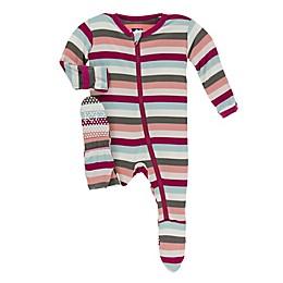 KicKee Pants® Stripe Footie Pajama in Pink