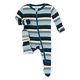 KicKee Pants® Stripe Footie Pajama in Blue