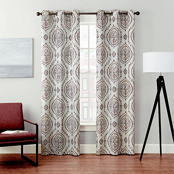 Alternate image 1 for Brookstone® Velvet Serra Grommet Blackout Window Curtain (2-Pack)