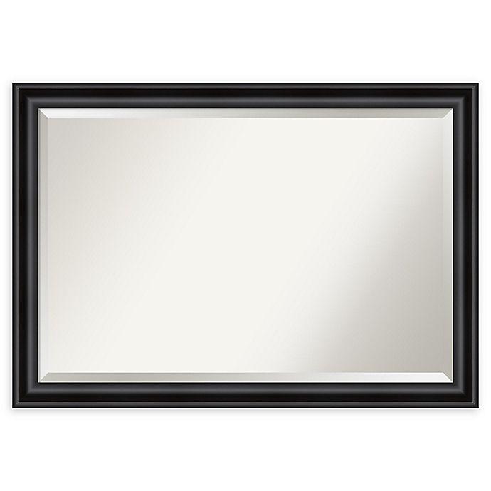 Alternate image 1 for Amanti Art Grand Narrow Framed Bathroom Vanity Mirror in Black