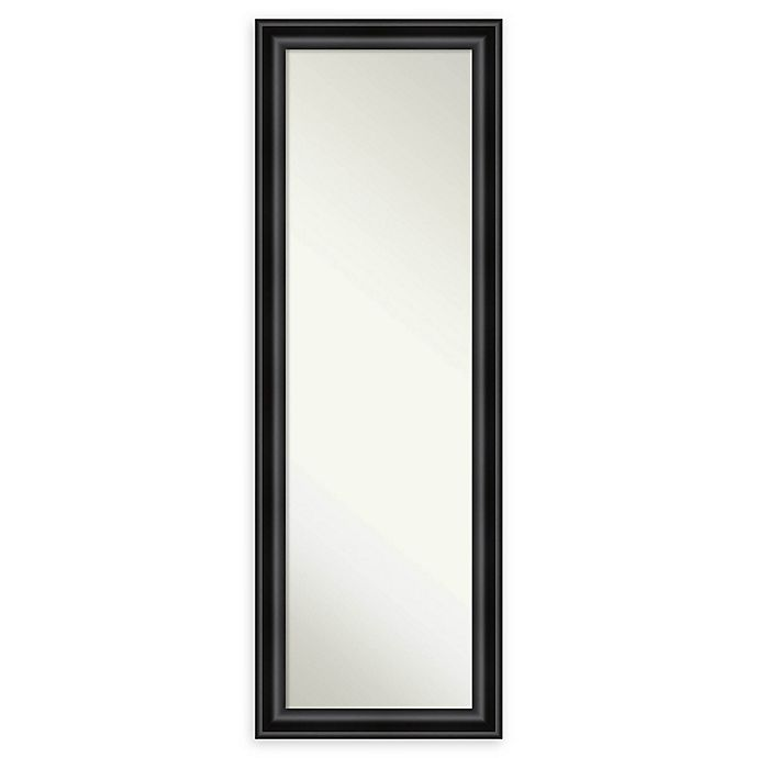 Alternate image 1 for Amanti Art Grand 18-Inch x 52-Inch Narrow Framed On the Door Mirror in Black