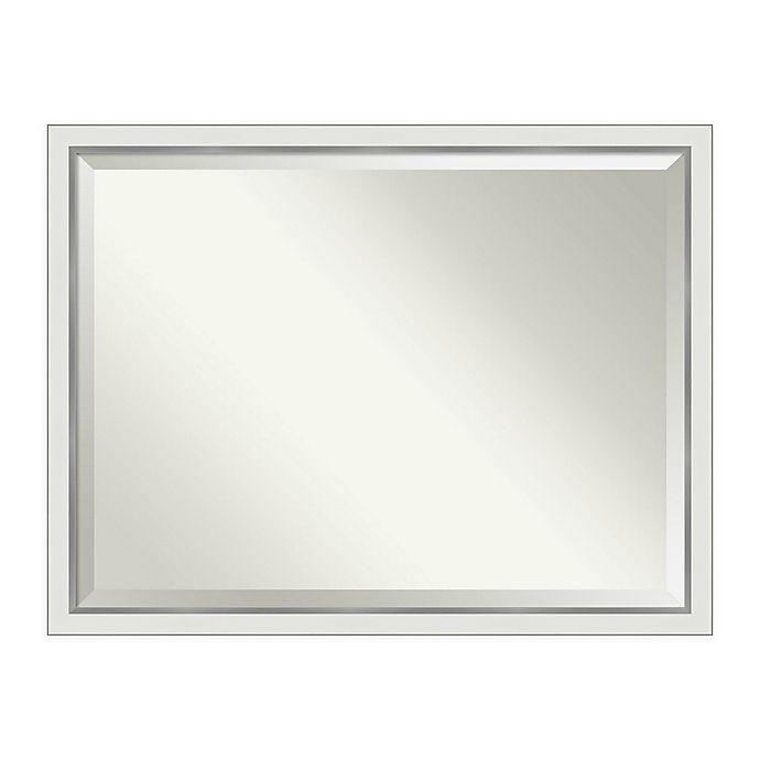 Alternate image 1 for Amanti Art Eva Narrow Framed Bathroom Vanity Mirror