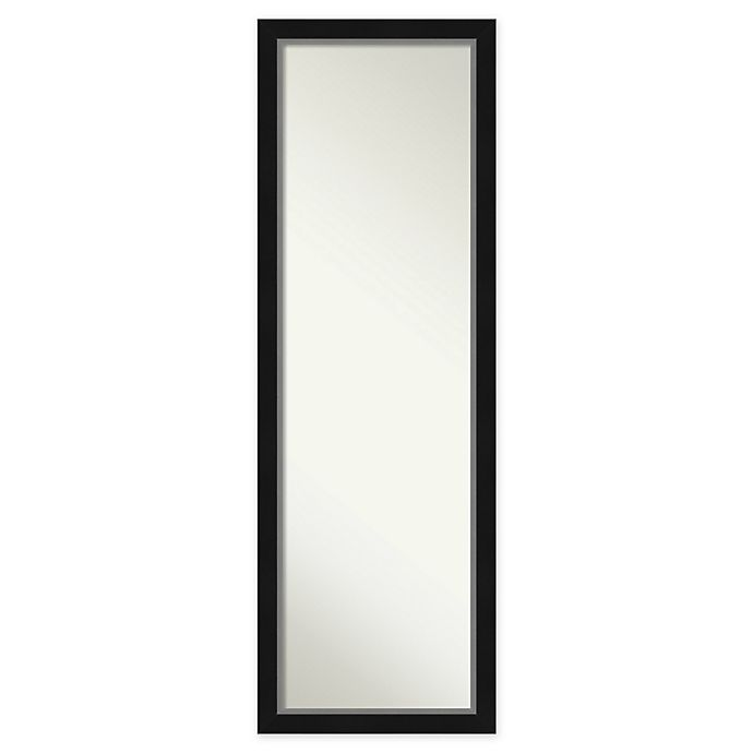Alternate image 1 for Amanti Art Eva Framed On the Door Mirror in Black/Silver