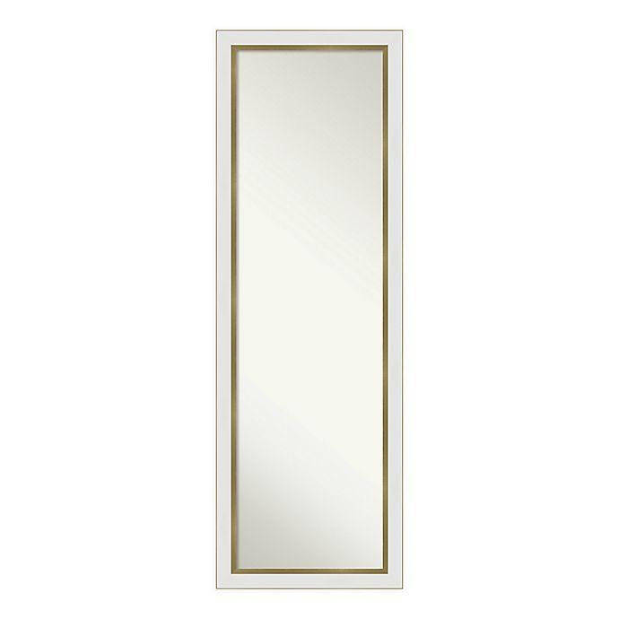 Alternate image 1 for Amanti Art Eva Framed On the Door Mirror in White/Gold