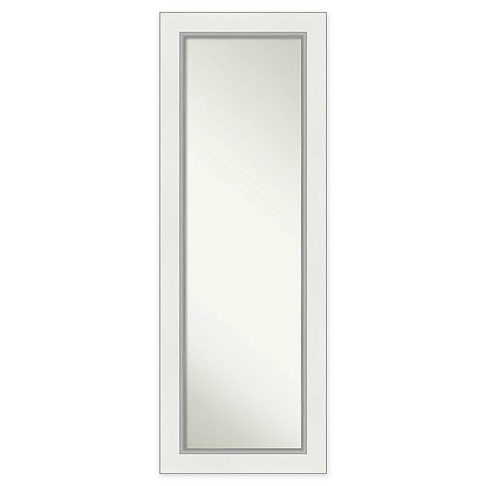 Alternate image 1 for Amanti Art Eva Framed On the Door Mirror in White/Silver