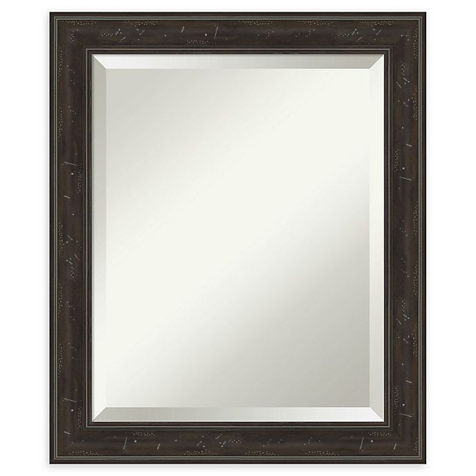 Amanti Art Shipwreck Narrow Framed Bathroom Vanity Mirror In