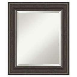 Amanti Art Shipwreck Framed Bathroom Vanity Mirror in Greywash/Brown