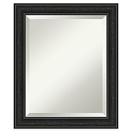 Amanti Art Shipwreck Narrow Framed Bathroom Vanity Mirror in Black