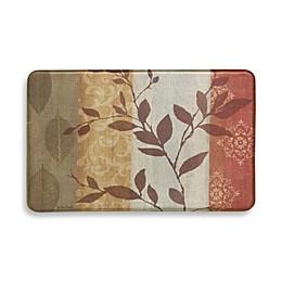 Bacova Atwood Stripe Red 22-Inch x 35-Inch Vintage Print Memory Foam Rug