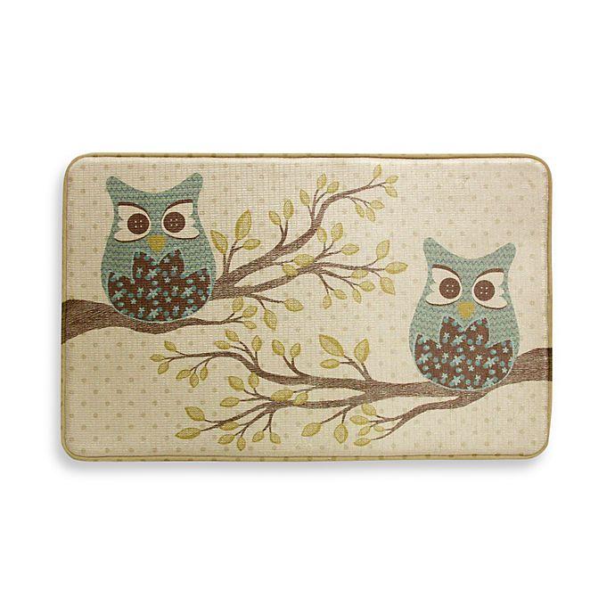 Bacova Owl Duet 22-Inch X 35-Inch Memory Foam Rectangle