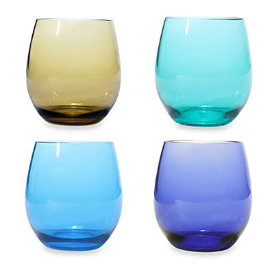 Oenophilia Wine Glass Set in Jeweltone Colors (Set of 4)
