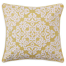 Levtex Home Kaitlyn Lattice Square Throw Pillow in Yellow/White