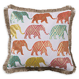 Levtex Home Nadya Elephants Multicolor Square Throw Pillow