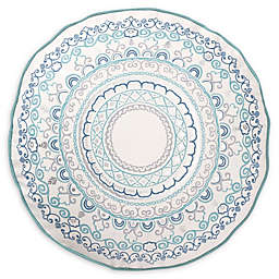 Levtex Home Shaniah Round Throw Pillow in Teal/Silver