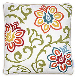 Levtex Home Amelie Floral Square Throw Pillow in Multicolor/Cream