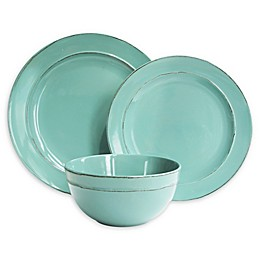 American Atelier Olivia 12-Piece Dinnerware Set in Seafoam