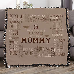 Reasons Why For Her Personalized 50-Inch x 60-Inch Tie Blanket